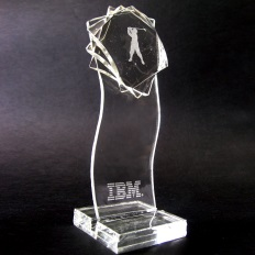 Glass art trophy award