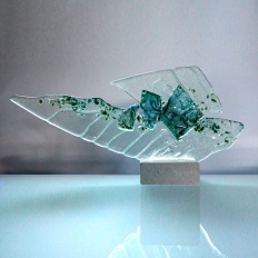 Art glass sculpture